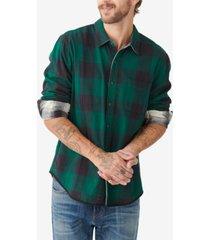 lucky brand men's reversible san gabriel woven shirt
