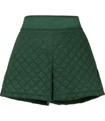 chanel pre-owned diamond quilted shorts - green