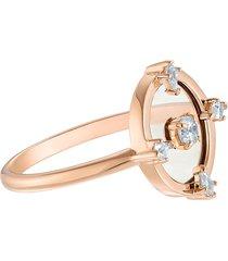 anel feminino north motif em metal - ouro rosa