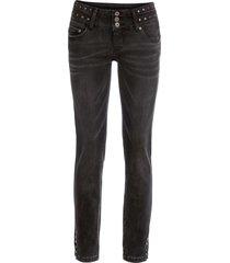 jeans con borchiette in vita (nero) - rainbow