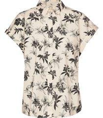 blouses woven kortärmad skjorta creme esprit casual