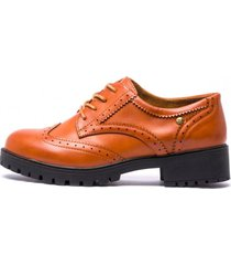 zapato blucher brown chancleta