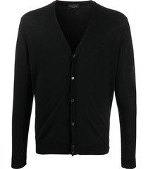 roberto collina lightweight cotton cardigan - black