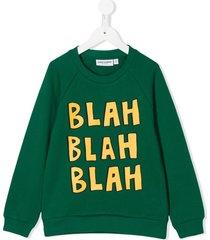 mini rodini blah print sweatshirt - green