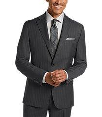 lauren by ralph lauren charcoal stripe classic fit suit