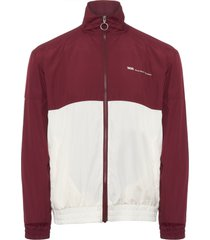 wood wood dark red homer taped track jacket 11815116