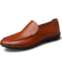 stivaletti da uomo in pelle morbida suola antiscivolo scarpe da guida casuali