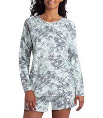 h halston women's dropped shoulder sweatshirt - white - size m
