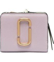 the marc jacobs mini snapshot wallet - purple