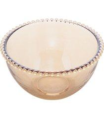 saladeira cristal pearl âmbar 21x12cm