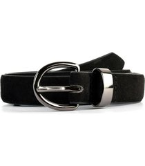 cinturón angosto gamuza negro mailea