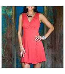 jersey knit dress, 'sumatra in orange chic' (indonesia)