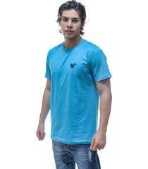 camiseta vitoriano classic - azul claro - azul - masculino - algodã£o - dafiti