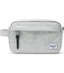 herschel supply co. chapter carry-on dopp kit, size one size - light grey crosshatch/ grey