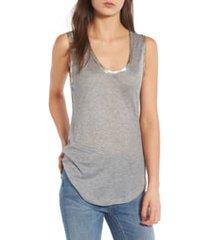 women's zadig & voltaire tam scoop neck tank, size large - grey