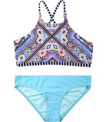 bikini high neck turquesa h2o wear
