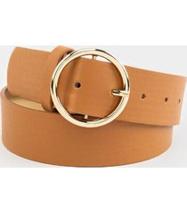 colleen basic circle belt - cognac