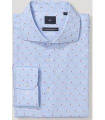 camisa clasicc cuello francés celeste trial
