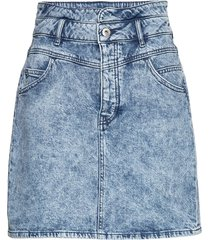 skirts denim kort kjol blå edc by esprit