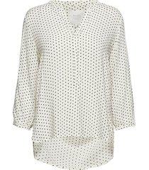 chichipw bl blouse lange mouwen wit part two