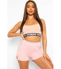 boyfriend pyjama shorts, pink