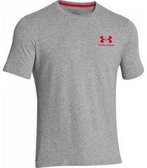 camiseta gris under armour left chest lockup