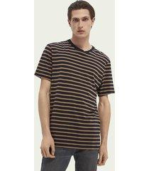 scotch & soda striped cotton-blend t-shirt