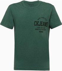 camiseta masculina infantil estampa live life verde calvin klein jeans - 2