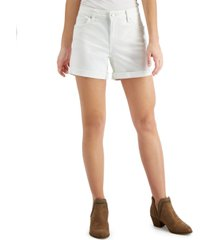 lucky brand ava the roll-up jean shorts