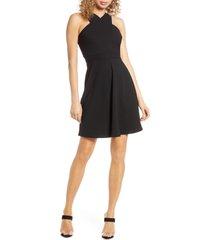 women's sam edelman crisscross fit & flare dress