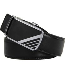 men's genuine leather ratchet dress belt with automatic buckle 35mm - ricco