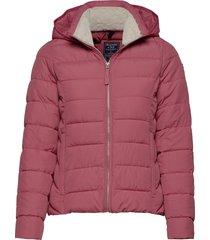 packable puffer coat gevoerd jack roze abercrombie & fitch