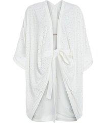 kimono cristais animale - off white