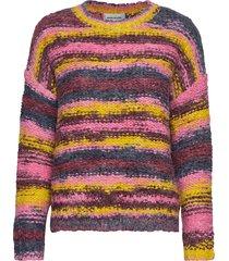dharia knit pullover pullover multi/patroon denim hunter