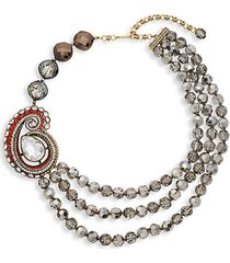 paisley draped collar necklace