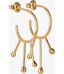 kolczyki złocone camelina alyssum
