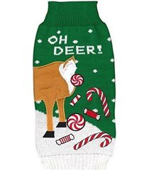 new york ugly holiday sweater for dogs - xs - xl - oh deer sweaters