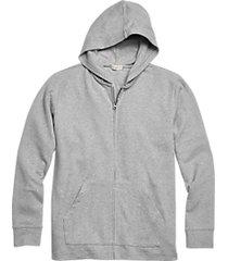 alternative apparel full zip modal interlock lounge hoodie gray