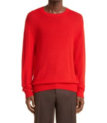 jil sander men's crewneck wool sweater, size 44 us in medium red at nordstrom