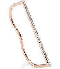 rose gold fiji skinny double diamond ring diamond