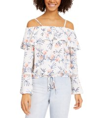 bcx juniors' off-the-shoulder bell-sleeve top