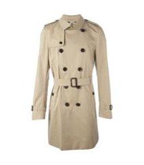 burberry trench coat midi - neutro