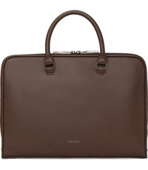 matt & nat holder slim briefcase, chestnut