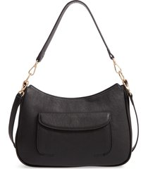 nordstrom finn leather hobo bag - black