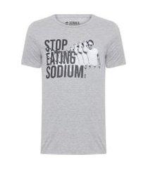 t-shirt masculina sodium - cinza
