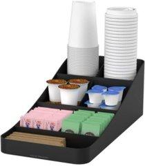 mind reader 7 compartment tea/coffee condiment organizer metal mesh