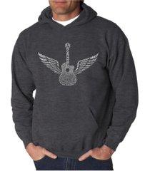 la pop art men's word art hooded sweatshirt - amazing grace