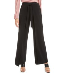 bar iii wide-leg tie-front pants, created for macy's