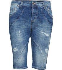pirat denim stretch trousers capri trousers blå please jeans