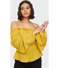 ax paris puff sleeve blouse festblusar